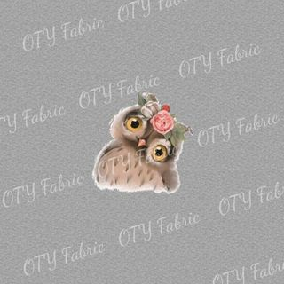 Floral owl on marle panel