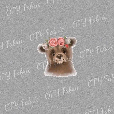 Floral bear on marle panel