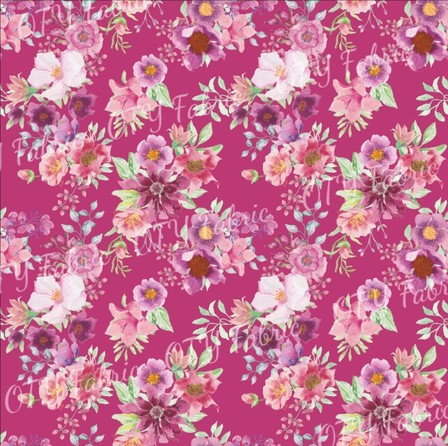 Bright floral milestone coordinate in pink