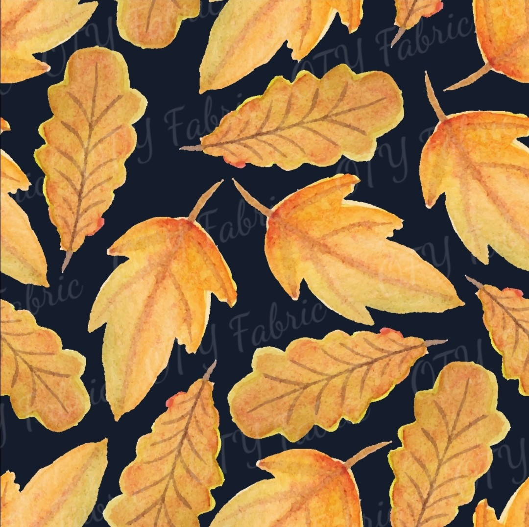 Autumn leaves on navy