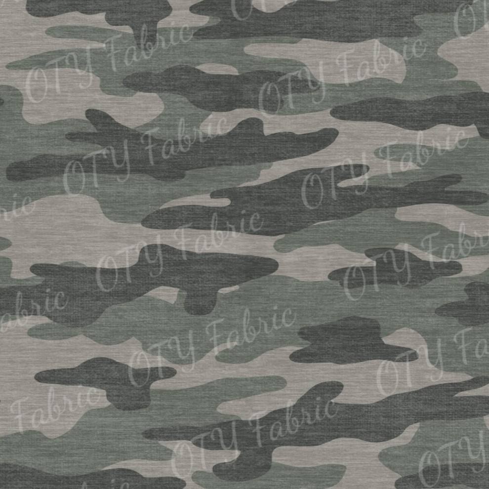 Distressed camo army green